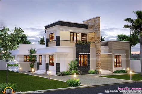 Cute Contemporary Home-kerala Home Design And Floor Plans