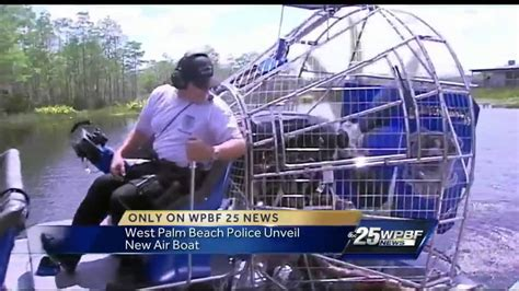 Police Airboat by Local Police Department Gets New Airboat Youtube