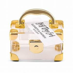 Mini Travel Suitcase Favor Box - Gold (Pack of 2) - Favor ...