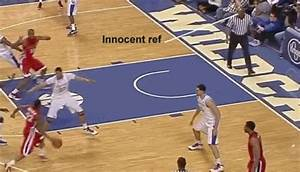Ball Nails Inattentive College Hoops Ref And Makes Him ...