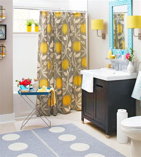 yellow and teal bathroom decor images