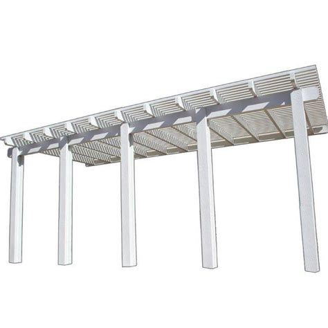Patio Materials Home Depot by Four Seasons Building Products 20 Ft X 12 Ft White