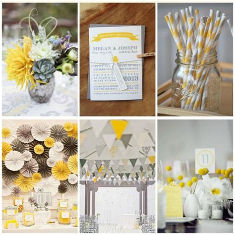 id 233 es d 233 co mariage jaune blanc et gris style tables and wedding
