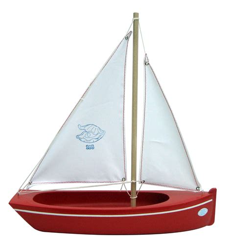 Toy Boat Decoration by Spirited Mama Toy Sailing Boat Red 108