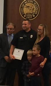 Two Alton Police officers honored at city council meeting ...
