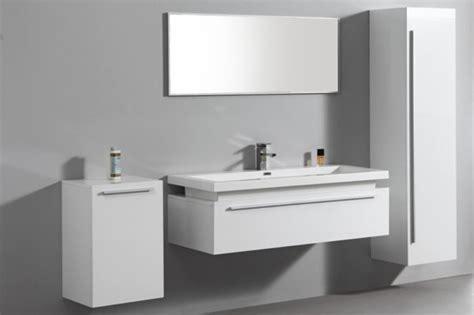 meuble bas salle de bain laque blanc