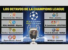 Sorteo Champions en directo Los enfrentamientos de