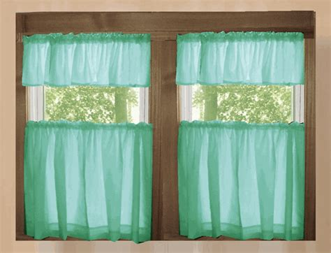 Mint Green Kitchen Curtains  Home The Honoroak