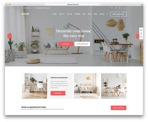 9 Best Interior Design Wordpress Themes 2018 Open Shelf Kitchen Cabinet Ideas White Sinks Pot Racks For Small Kitchens Painted Grey Best Color To Paint With Cabinets High Gloss Islands And Stools