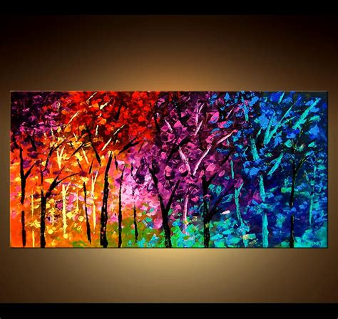 Painting For Sale  Bold Colorful Forest #4126