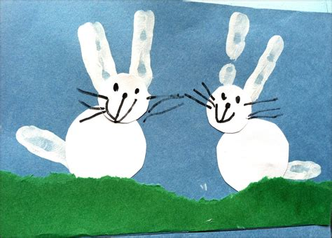 Bunny Pictures From Hand Stamp