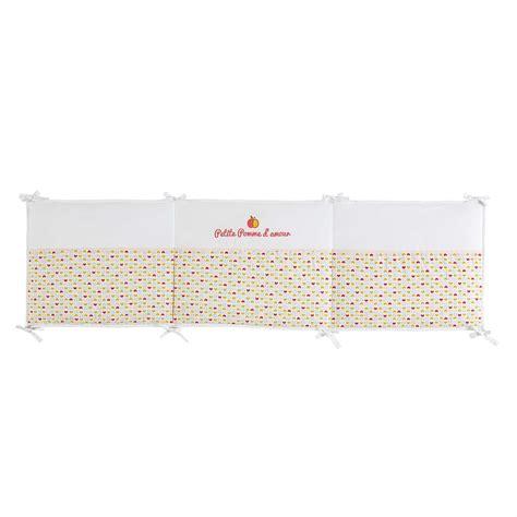 tour de lit b 233 b 233 en coton 50 x 180 cm louison maisons du monde