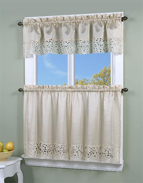 simply window brighton cutwork kitchen curtain valance