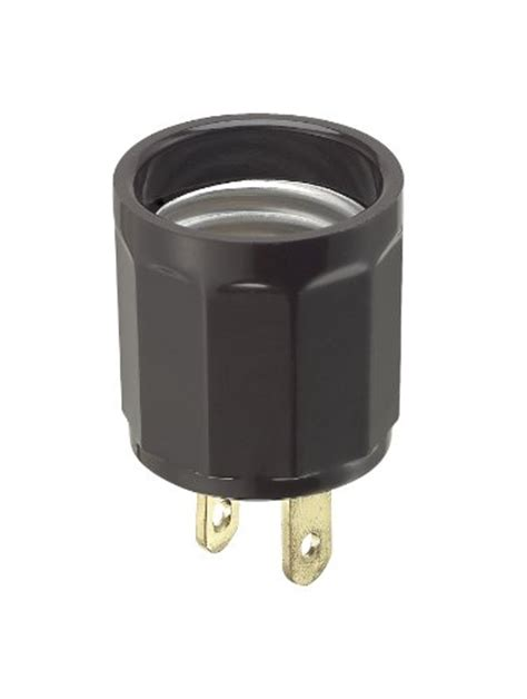 leviton 61 660 watt 125 volt polarized outlet to lholder adapter brown 078477341162