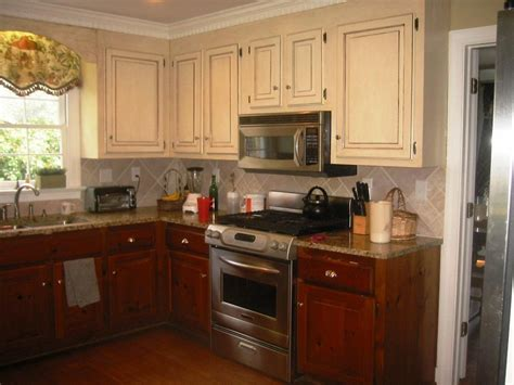 Two Colors Kitchen Cabinets  Kitchen Cabinet