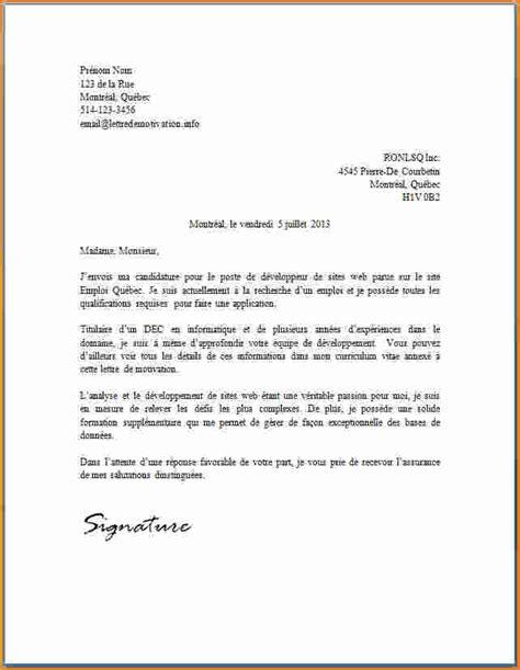lettre de candidature gratuite exemple de lettre d motivation jaoloron