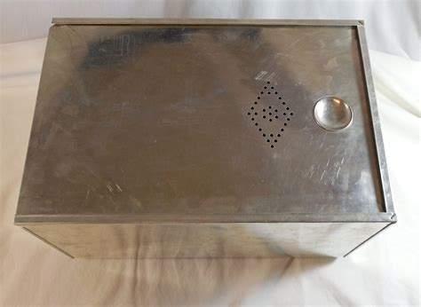 What Is A Hoosier Cabinet Insert by Vintage Tin Drawer Bread Box Hoosier Sellers Cabinet