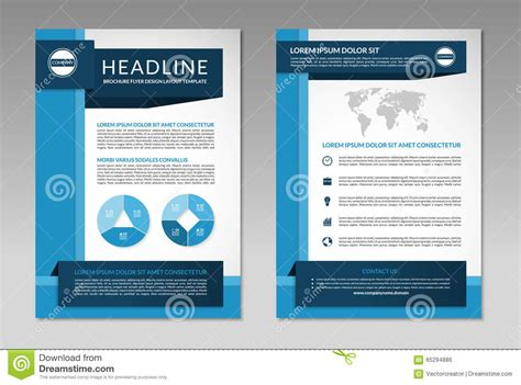 Brochure Flyer Design Layout Template. A4 Size Stock