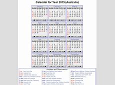 Free QLD Calendar 2019 Template PDF, Excel, Word Templates