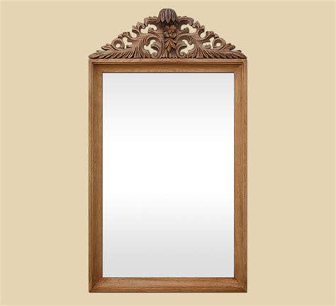 grand miroir ancien 224 fronton sculpt 233 en bois naturel