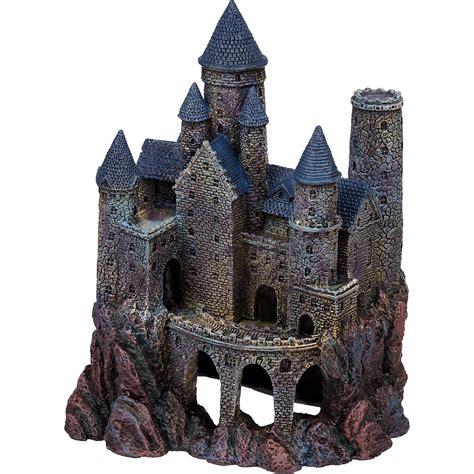penn plax large magical castle aquarium ornament petco