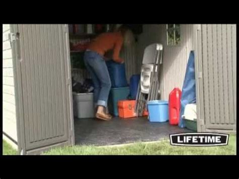 lifetime 8x10 outdoor shed model 6405