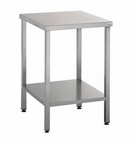 Küchentisch 60 X 60 : table support machine 60x60 cm en inox mjpro restauration collective equipement ~ Markanthonyermac.com Haus und Dekorationen