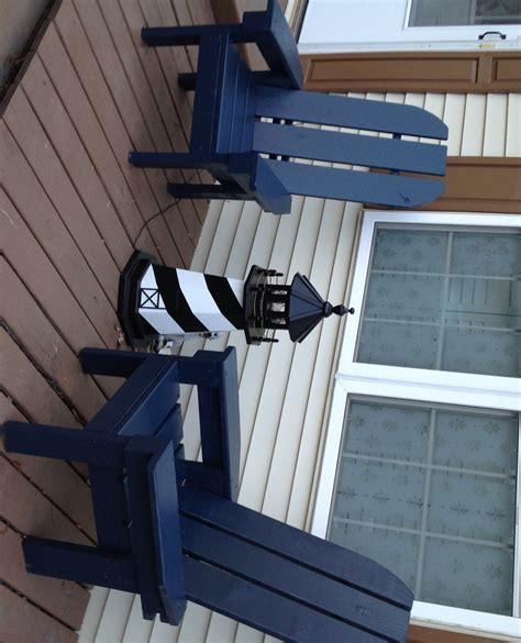 Navy Blue Resin Adirondack Chairs by White Adirondack Chairs Diy Projects
