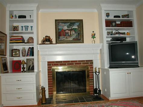 Bookcases For Either Side Of Fireplace Fireplace