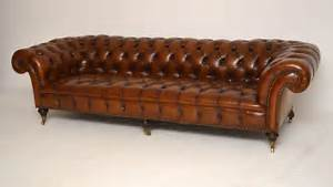 Big Sofa Vintage : large antique victorian leather chesterfield sofa antiques atlas ~ Markanthonyermac.com Haus und Dekorationen